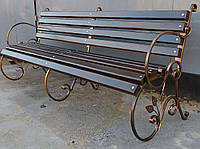 Кованые боковины для скамейки листок. (90*70*9 см)