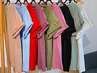 Базовая женская свободная футболка. 9 цветов!