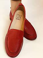 Комфорт! Женские туфли -мокасины из натуральной кожи.Красый и бежевый 35-40.Vellena, фото 2