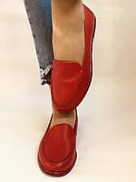 Комфорт! Женские туфли -мокасины из натуральной кожи.Красый и бежевый 35-40.Vellena, фото 4