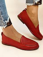 Комфорт! Женские туфли -мокасины из натуральной кожи.Красый и бежевый 35-40.Vellena, фото 3