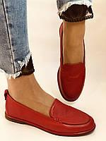 Комфорт! Женские туфли -мокасины из натуральной кожи.Красый и бежевый 35-40.Vellena, фото 5