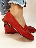 Комфорт! Женские туфли -мокасины из натуральной кожи.Красый и бежевый 35-40.Vellena, фото 8