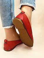 Комфорт! Женские туфли -мокасины из натуральной кожи.Красый и бежевый 35-40.Vellena, фото 6