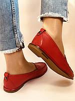 Комфорт! Женские туфли -мокасины из натуральной кожи.Красый и бежевый 35-40.Vellena, фото 9