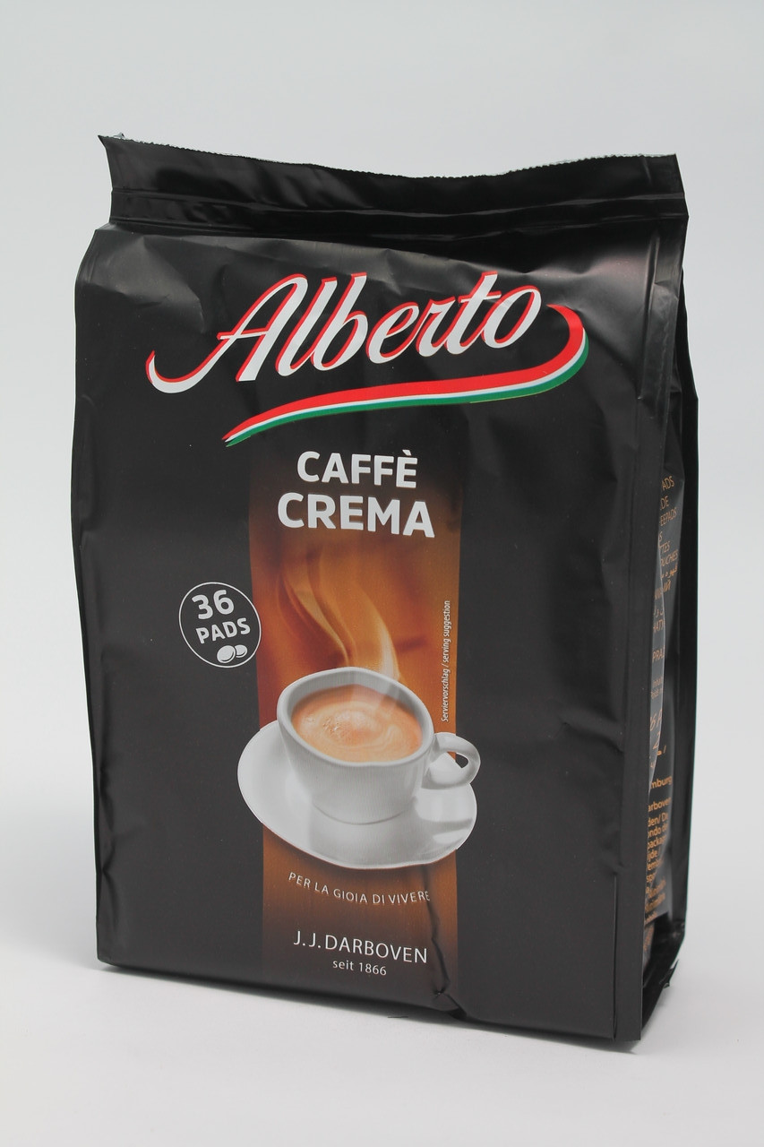 "КОФЕ В ЧАЛДАХ J.J.Darboven- Alberto ""Caffe Crema"" 36шт, 252 гр"