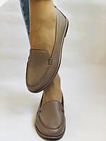 Molka. Женские туфли-мокасины из натуральной кожи.Vison. Размер 35, 36, 37,38, 38, Vellena, фото 4