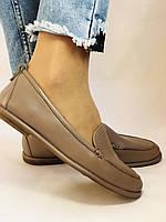 Molka. Женские туфли-мокасины из натуральной кожи.Vison. Размер 35, 36, 37,38, 38, Vellena, фото 3