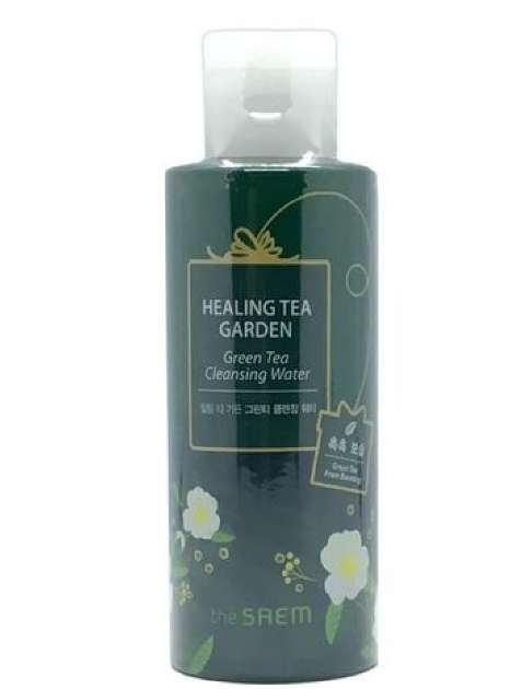 Очищающая и увлажняющая вода с зелым чаем The Saem Healing Tea Garden Green Tea Cleansing Water, 150мл