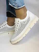Alpino.Туреччина. Жіночі кеди - кросівки. Натуральна шкіра. Білі з перфорацією. Розмір 36,37,38,39,40., фото 5