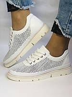 Alpino.Туреччина. Жіночі кеди - кросівки. Натуральна шкіра. Білі з перфорацією. Розмір 36,37,38,39,40., фото 2
