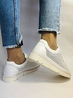 Alpino.Туреччина. Жіночі кеди - кросівки. Натуральна шкіра. Білі з перфорацією. Розмір 36,37,38,39,40., фото 9