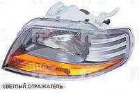 Фара левая мех.11.05-  (светлый отражатель) Chevrolet Aveo 04-06 (T200)