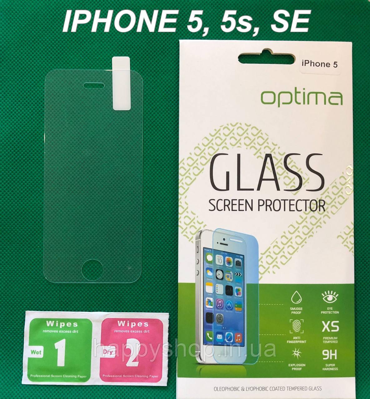 Захисне скло для iPhone 5, 5s, SE