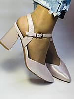 Висока якість! Красиві жіночі босоніжки із закритим носом на середньому каблуці. 35, 36,38,39,40.Vellena, фото 2