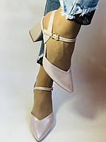 Висока якість! Красиві жіночі босоніжки із закритим носом на середньому каблуці. 35, 36,38,39,40.Vellena, фото 7