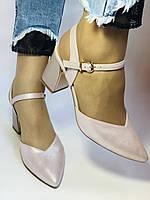 Висока якість! Красиві жіночі босоніжки із закритим носом на середньому каблуці. 35, 36,38,39,40.Vellena, фото 4