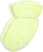 Махрові шкарпетки для новонароджених салатового кольору, фото 1