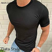 Мужская стильная одногтонная футболка, фото 1