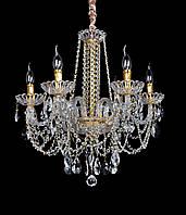 Люстра кришталева класична, шеститиламповая (модель 1008-6), свічки