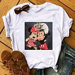 Жіноча стильна біла і чорна футболка з малюнком і написом (різні малюнки), фото 7