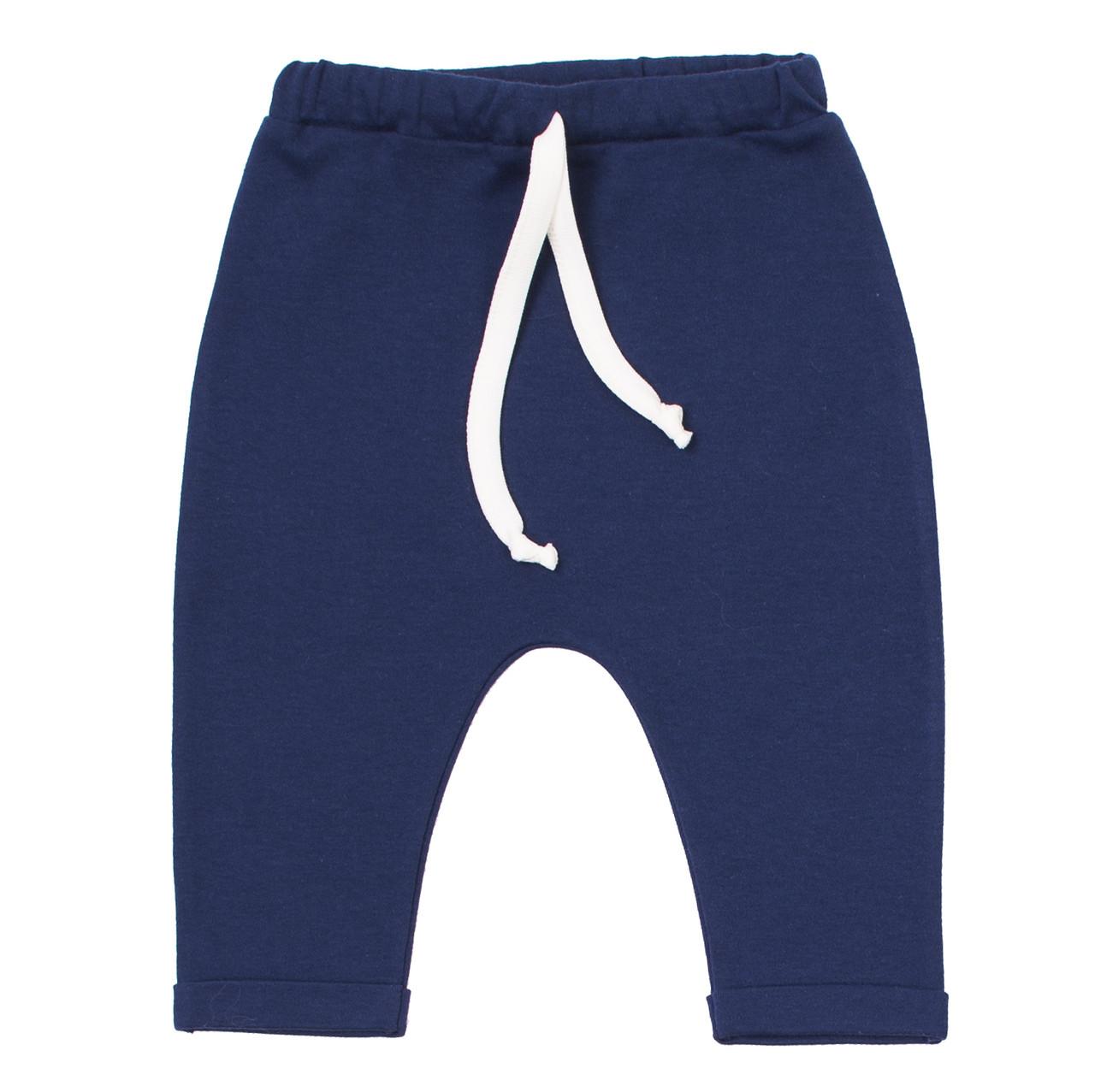 Штанишки  синие Baby Veres Sweet Unicorn blue интерлок