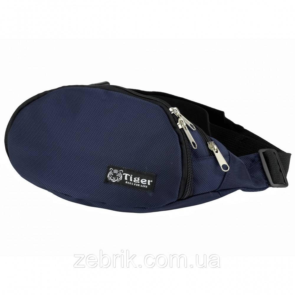 Бананка, сумка на пояс, сумка через плечо TIGER темносиний