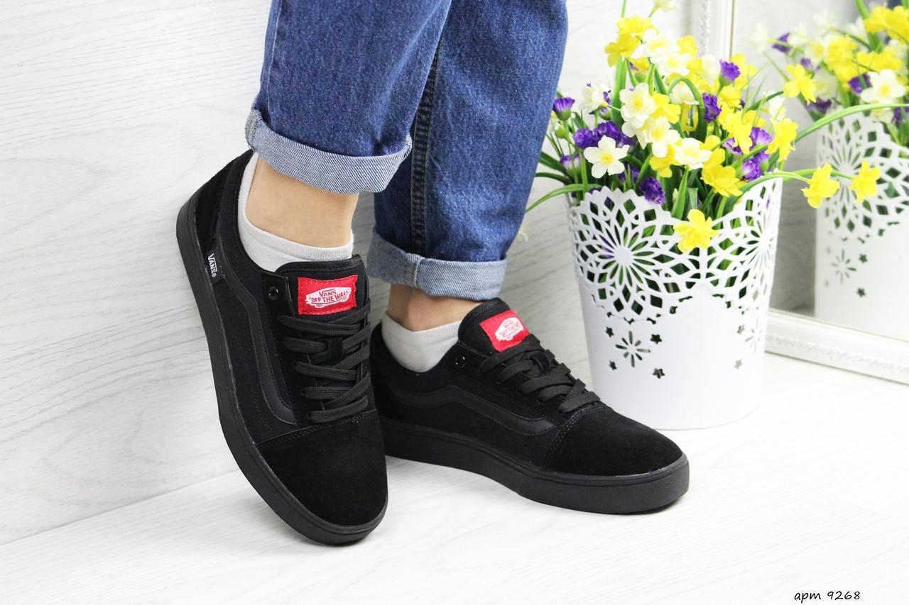 Женские кроссовки Vans (черные) 9268