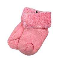 Махрові шкарпетки для новонароджених червоного кольору