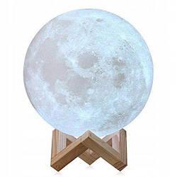 Ночной светильник в виде луны 3D Moon Light 15 см сенсорный на 3 режима подсветки
