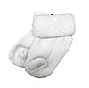Махровые носки для новорожденных белого цвета