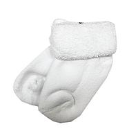 Махровые носки для новорожденных белого цвета, фото 1