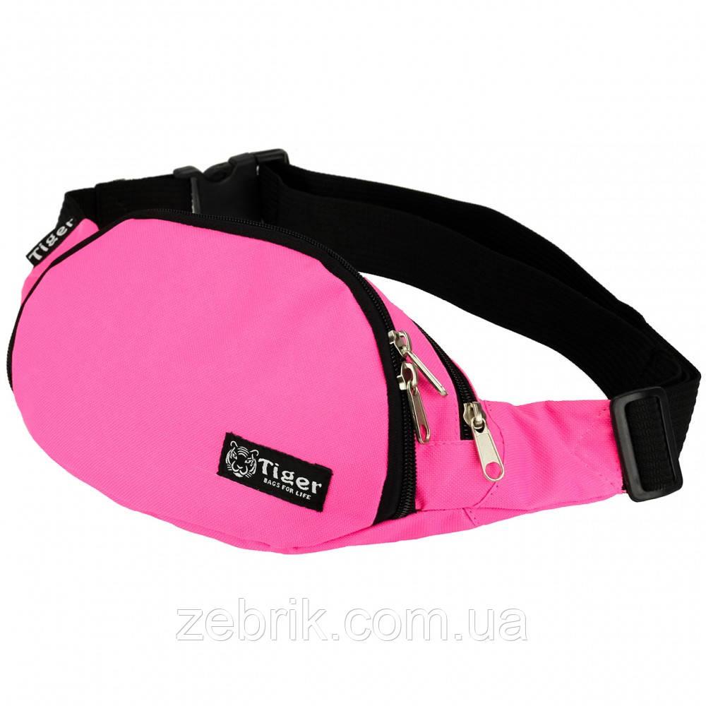 Бананка, сумка на пояс, сумка через плечо TIGER  розовый
