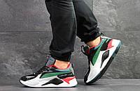 Кроссовки Puma RS Running System, черно белые\зеленые, 42р. по стельке 27,2см