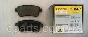 Колодки гальмівні задні (електро ручник) Renault Megane 3 хетчбек (Road House RH 21387.00)(середня якість)