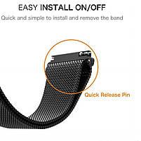 Amazfit GTS Комплект для смарт часов (металлический ремешок и бампер), Black, фото 6