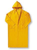 Плащ ПВХ влагожащитный жёлтый, плащ прорезиненный, плащ водостойкий, плащ дождевик