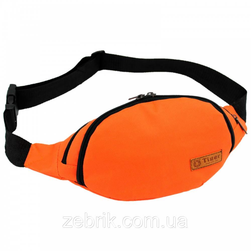 Бананка, сумка на пояс, сумка через плечо TIGER оранжевый