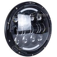 Фара главного света LED 80 W (ближний + дальний + ходовые огни) 7 дюймов