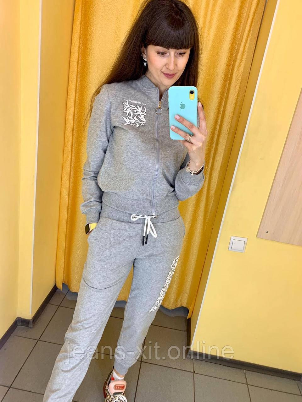 Fashion костюм Жін. L(р) сірий 0333 Off White Туреччина Весна-C