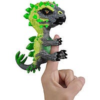 Интерактивный динозавр на палец Стегозавр  WowWee Fingerlings Radioactive Stegosaurus
