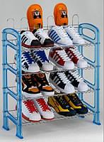 Полка для обуви хром/пластик