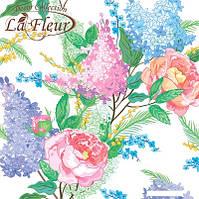 """Салфетка ТМ """"La Fleur"""" 33 * 33, 2 слоя, 20шт. """"Сиреневая нежность"""" 15уп / ящ"""