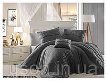 Комплект постельного белья  first choice евро размер c покрывалом Nirvana Excellent Fume