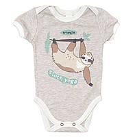 Боди-футболка Baby Veres Sloth yoga молочный рибана