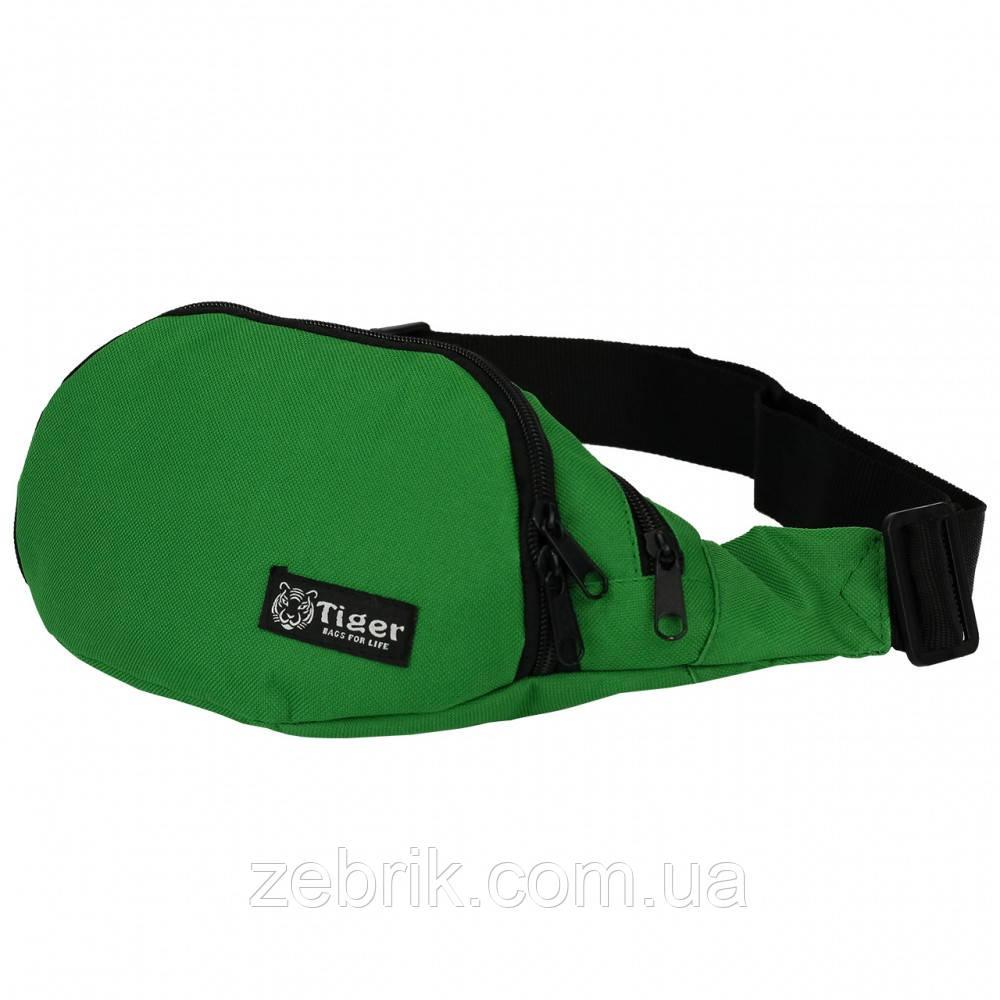 Бананка, сумка на пояс, сумка через плечо TIGER Зеленый яркий