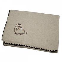 Детское одеяло шерсть/лен ТМ Ярослав 100х140 см, вышивка в ассортименте, фото 3