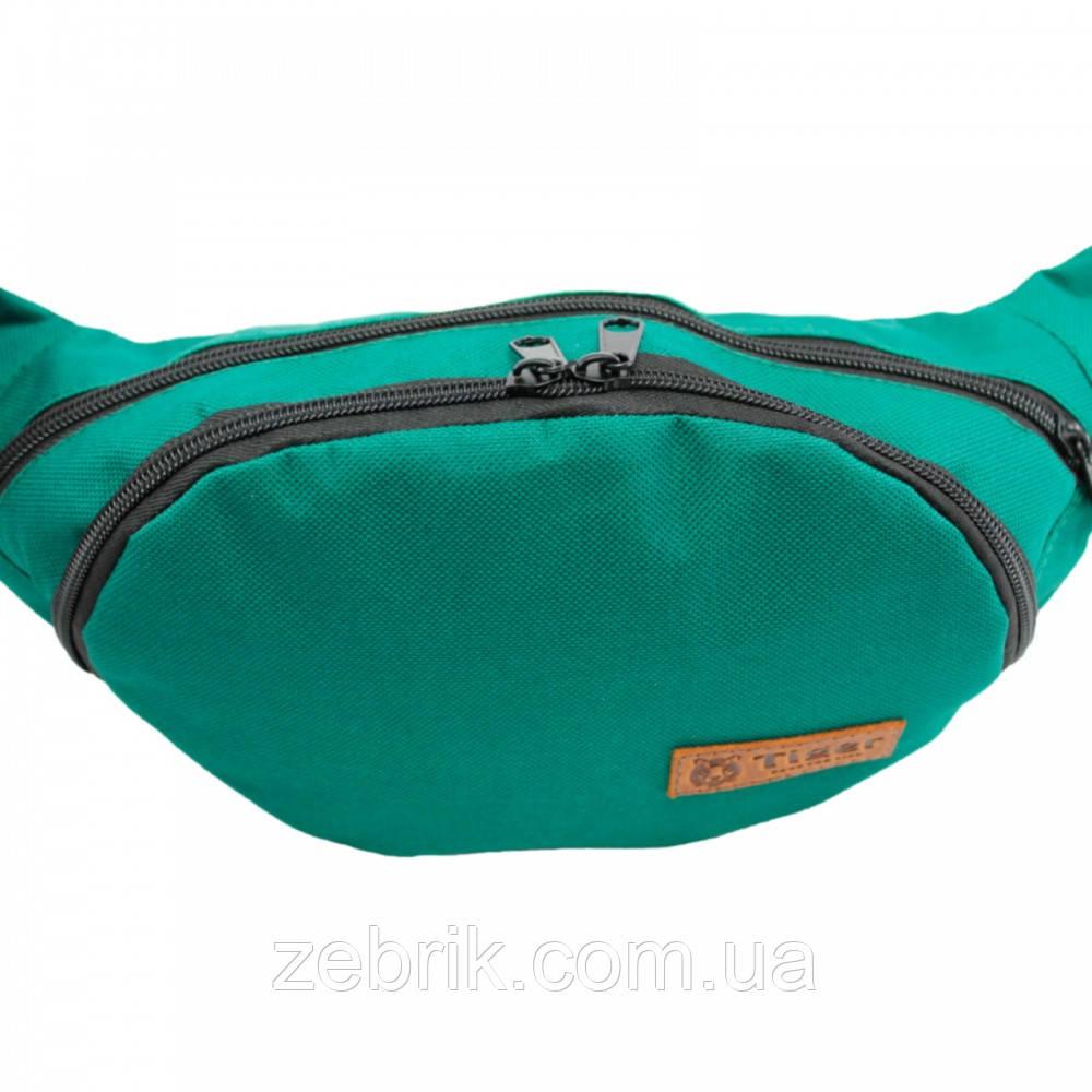 Бананка, сумка на пояс, сумка через плечо TIGER Зеленый