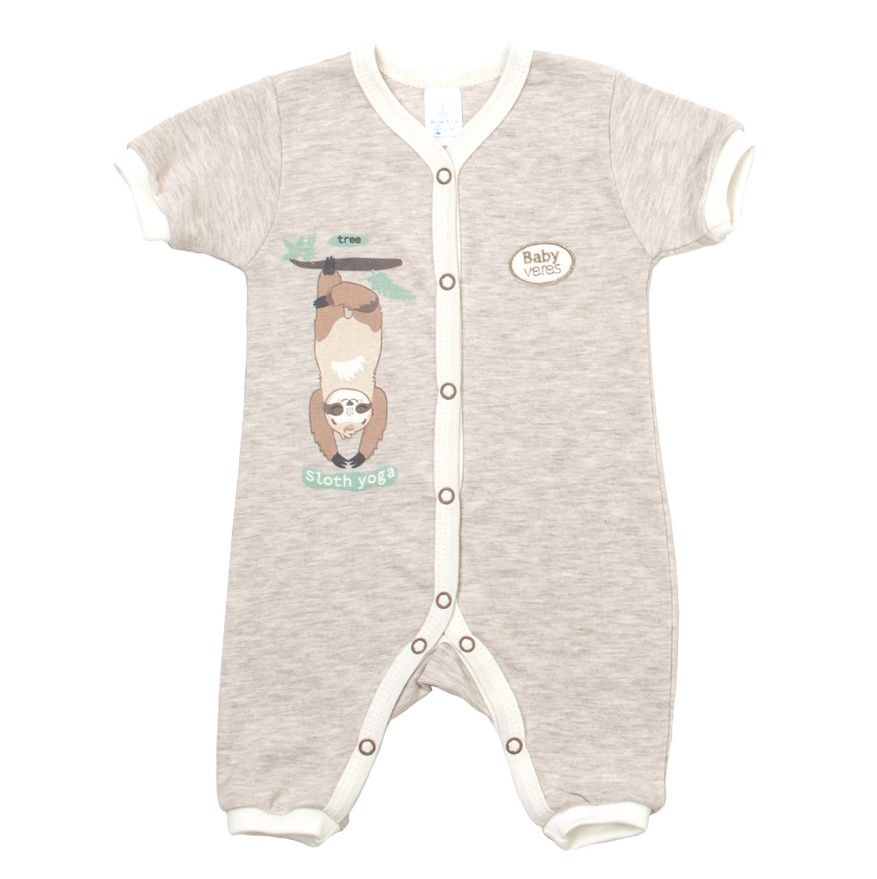 Комбинезон-ромпер Baby Veres Sloth yoga молочный рибана