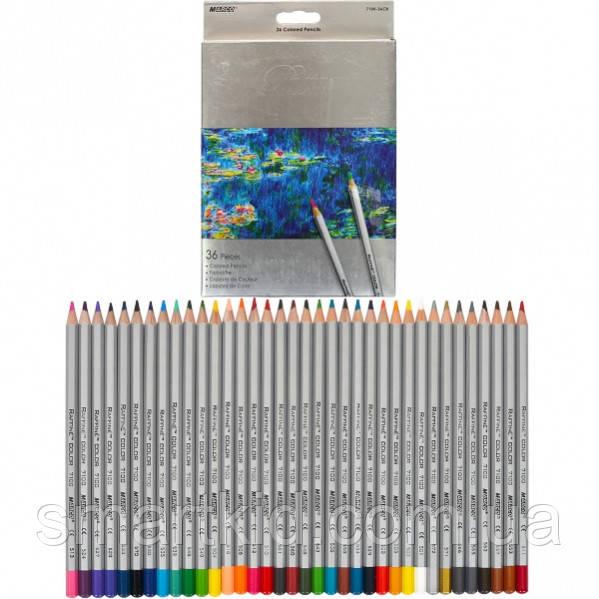 Олівці кольорові 36 кол. коробка сіра, Raffine, Marco